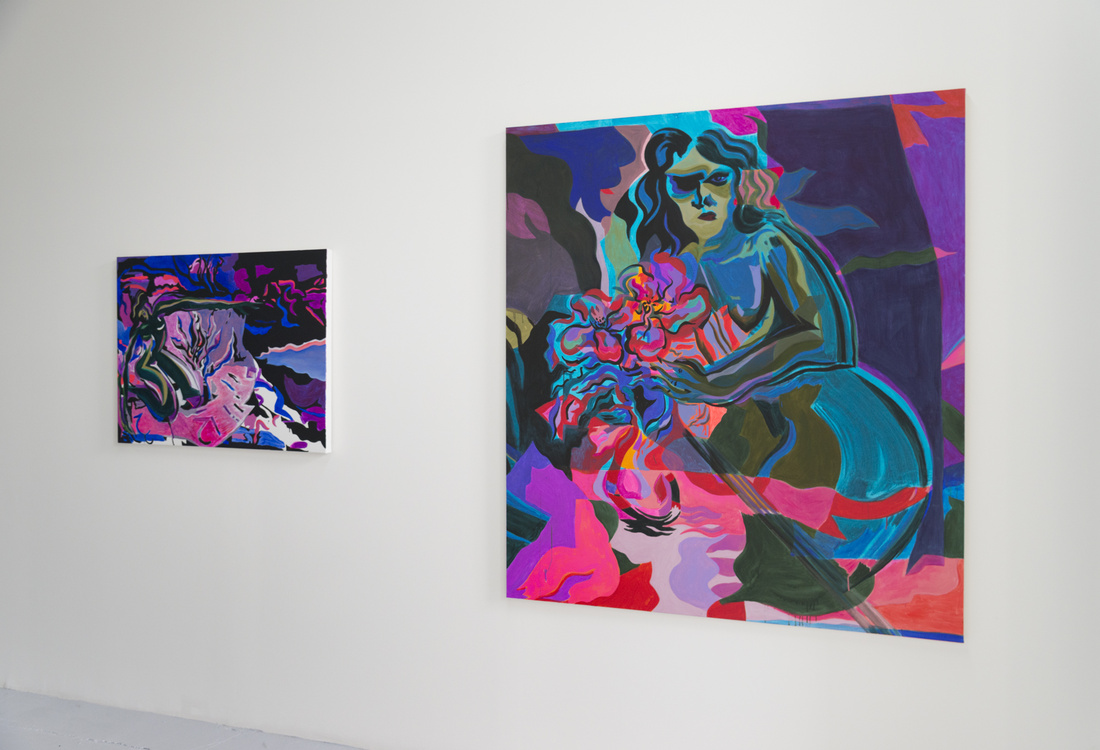 Installation view of works by Mira Dancy at Chapter NY's booth at Independent, 2016. Photo by Adam Reich for Artsy.