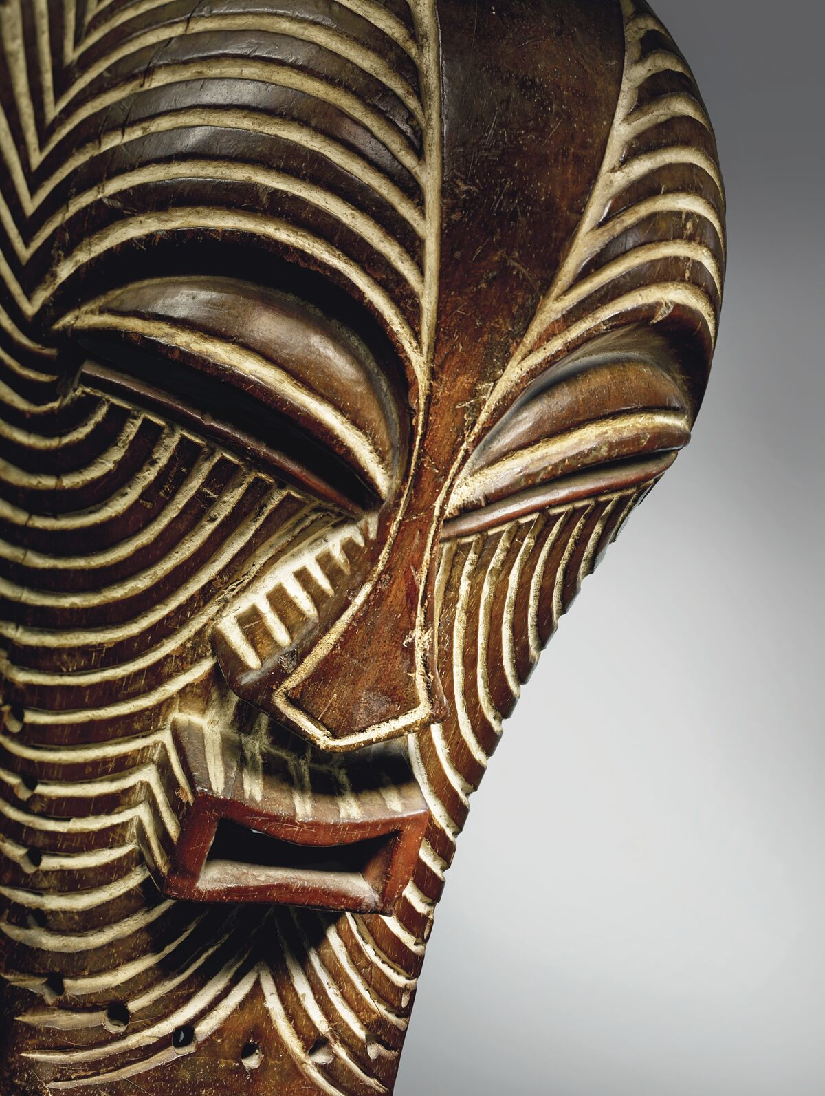 Attributed to a Songye master artist, The Walschot-Schoffel Kifwebe Mask, Democratic Republic of the Congo. Courtesy of Christie's.