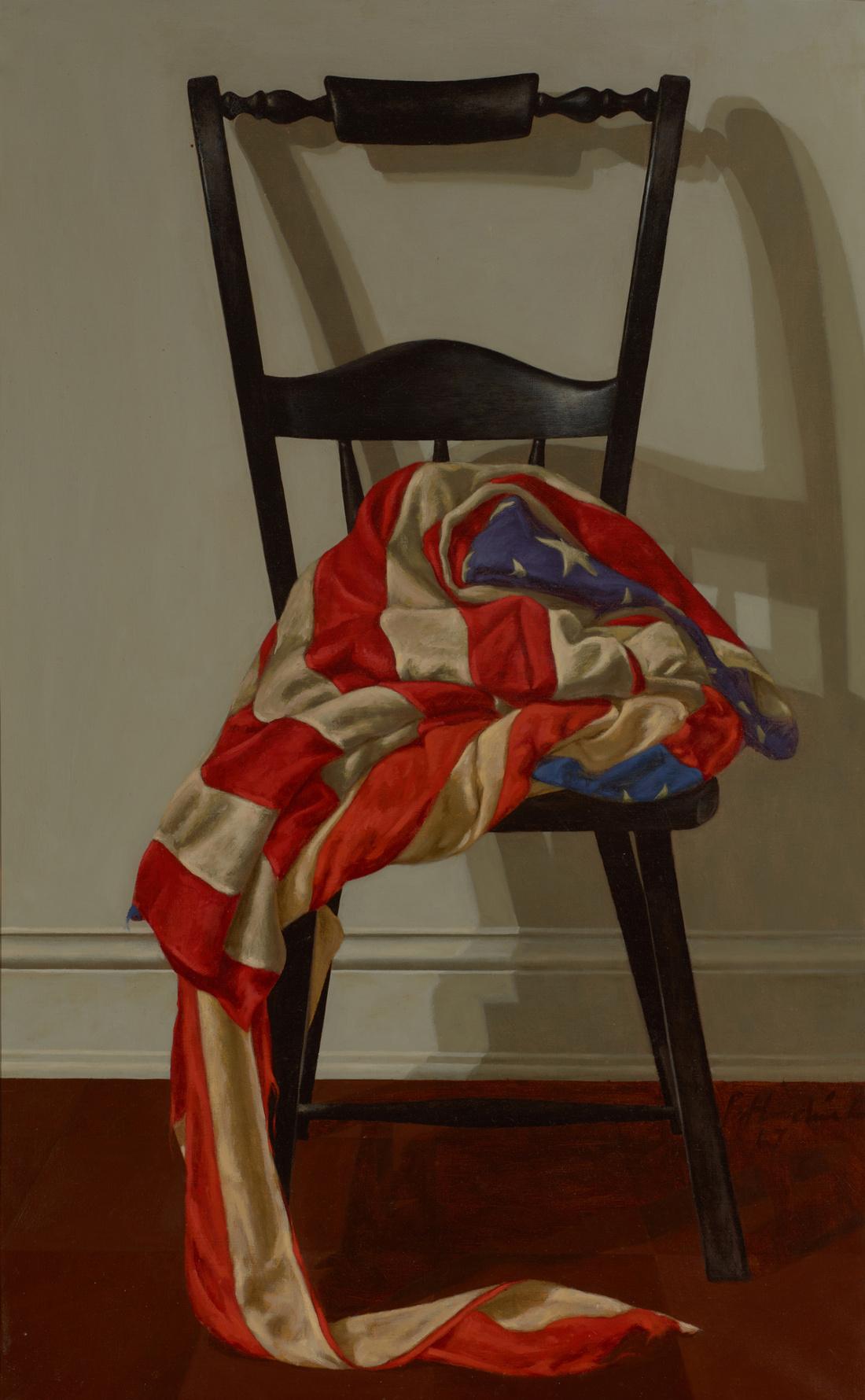 Barkley L. Hendricks, Star Spangled Chitlins, 1967. Courtesy of Bowdoin College Museum of Art.