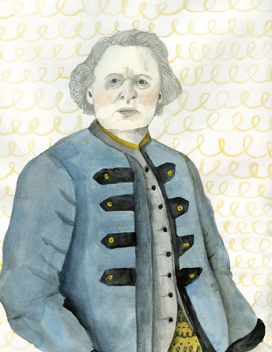 "Illustration of Rosa Bonheur by Lisa Congdon. From ""Broad Strokes: 15 Women Who Made Art and Made History (in That Order)"" by Bridget Quinn. Published by Chronicle Books 2017."