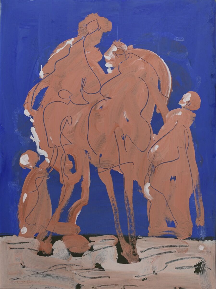 Serge Hollerbach, Figures in Orange (post-macular), 2002. Courtesy of the artist.
