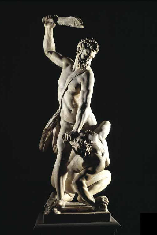 Giambologna, Samson Slaying a Philistine, 1560-62. Photo via Wikimedia Commons.