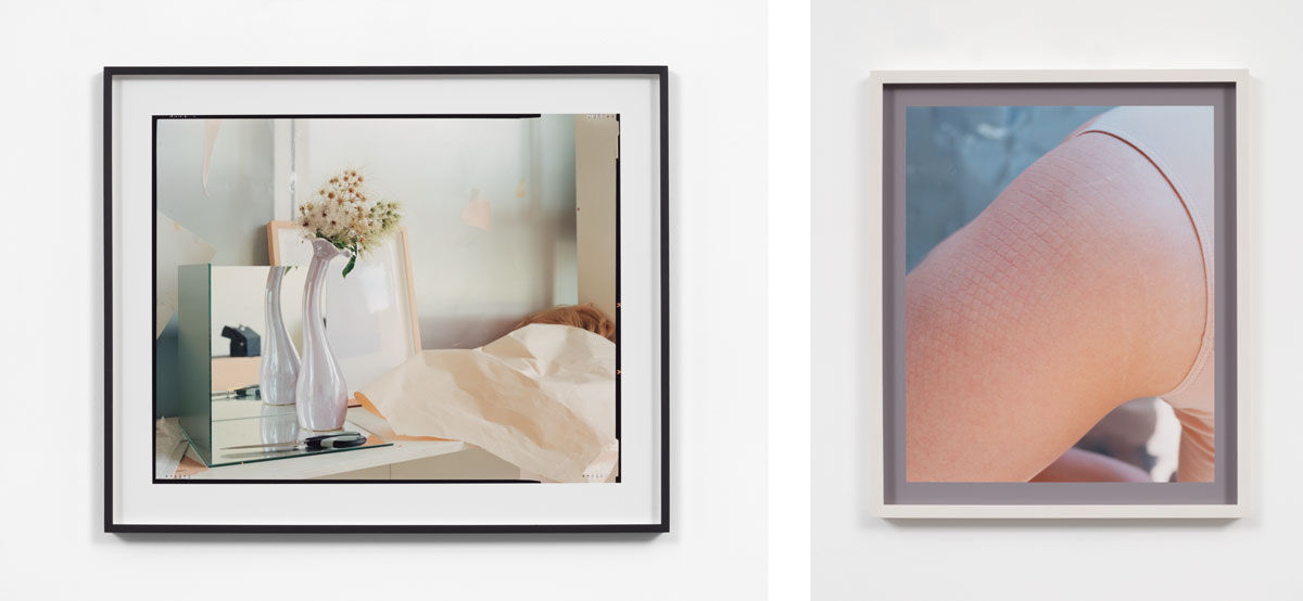 Left: Ketuta Alexi-Meskhishvili, Color of the day, 2015. Right: Ketuta Alexi-Meskhishvili, Lesley (after Woodman), 2015. Photos courtesy of Andrea Rosen Gallery, New York.
