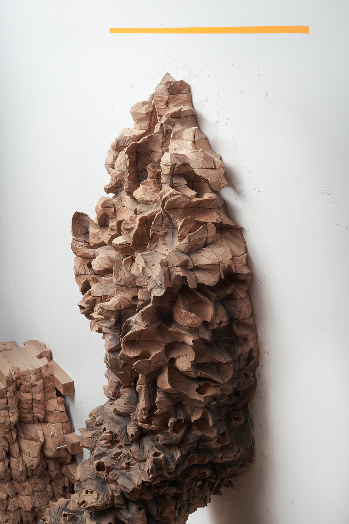 Detail of Ursula von Rydingsvard, NESTER, 2016. Photo by Alex John Beck for Artsy.