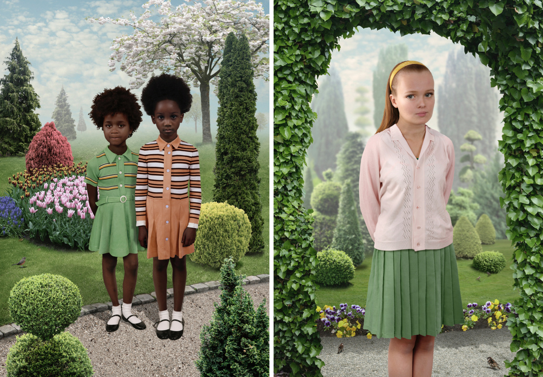 Left: Sunday #4, 2012 © Ruud van Empel / Courtesy Beetles+Huxley, London. Right: Sunday #5, 2012 © Ruud van Empel / Courtesy Beetles+Huxley, London.