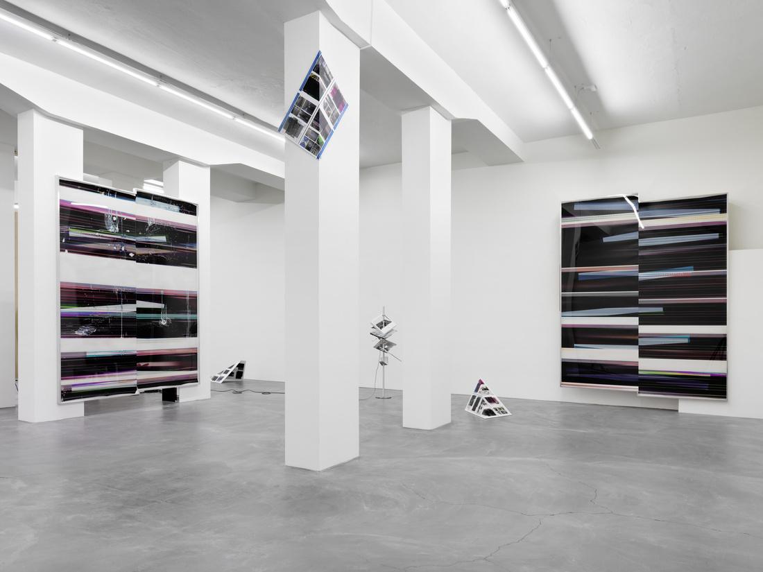 Installation view of Walead Beshty at Galerie Eva Presenhuber. Photo courtesy ofGalerie Eva Presenhuber.