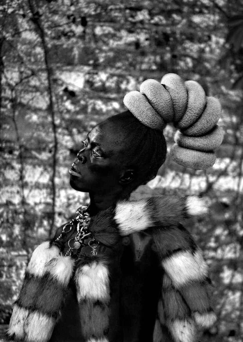 Zanele Muholi, Senzekile II, Cincinnati, 2016, from Zanele Muholi: Somnyama Ngonyama, Hail the Dark Lioness (Aperture, 2018). © Zanele Muholi. Courtesy of Stevenson Gallery, Cape Town/Johannesburg, and Yancey Richardson Gallery, New York.