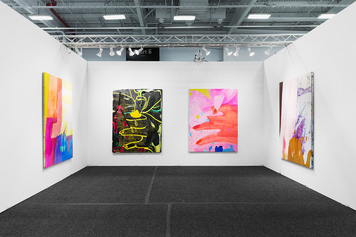 Installation view of works by Sarah Faux at Stems Gallery's booth at NADA New York, 2016. Photo by Object Studies for Artsy.