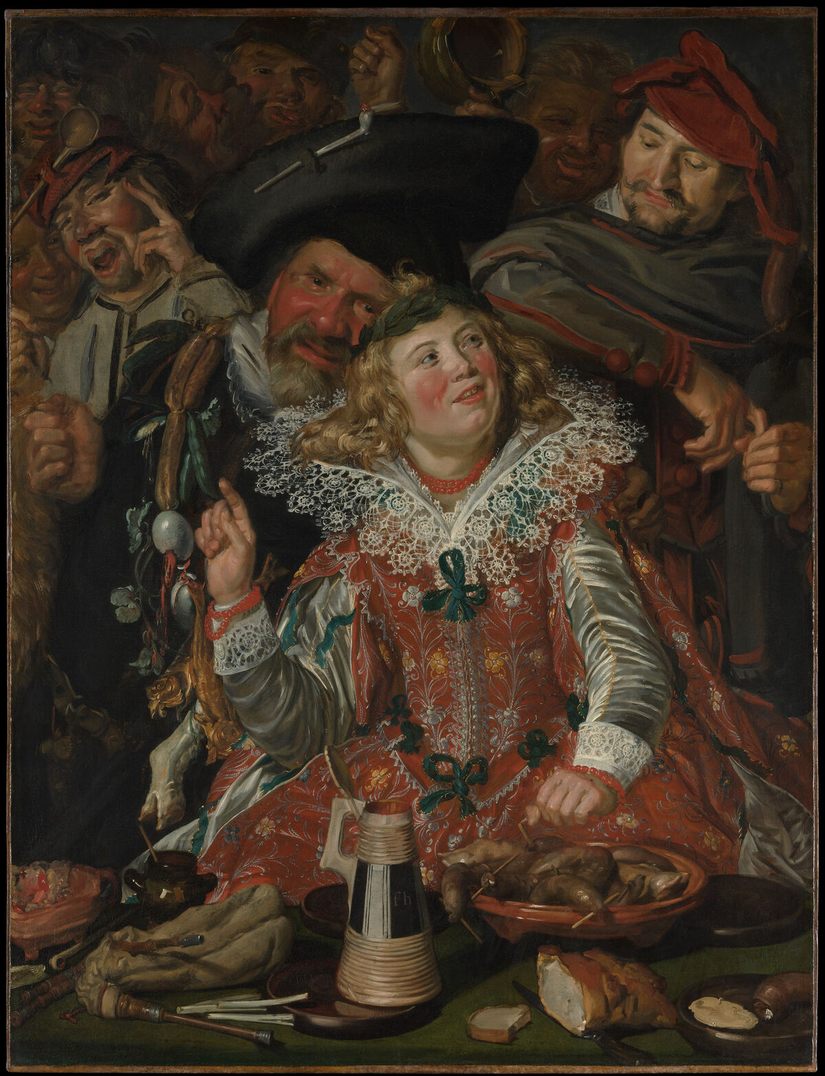 Frans Hals, Merrymakers at Shrovetide, ca. 1616-17. Courtesy of the Metropolitan Museum of Art.