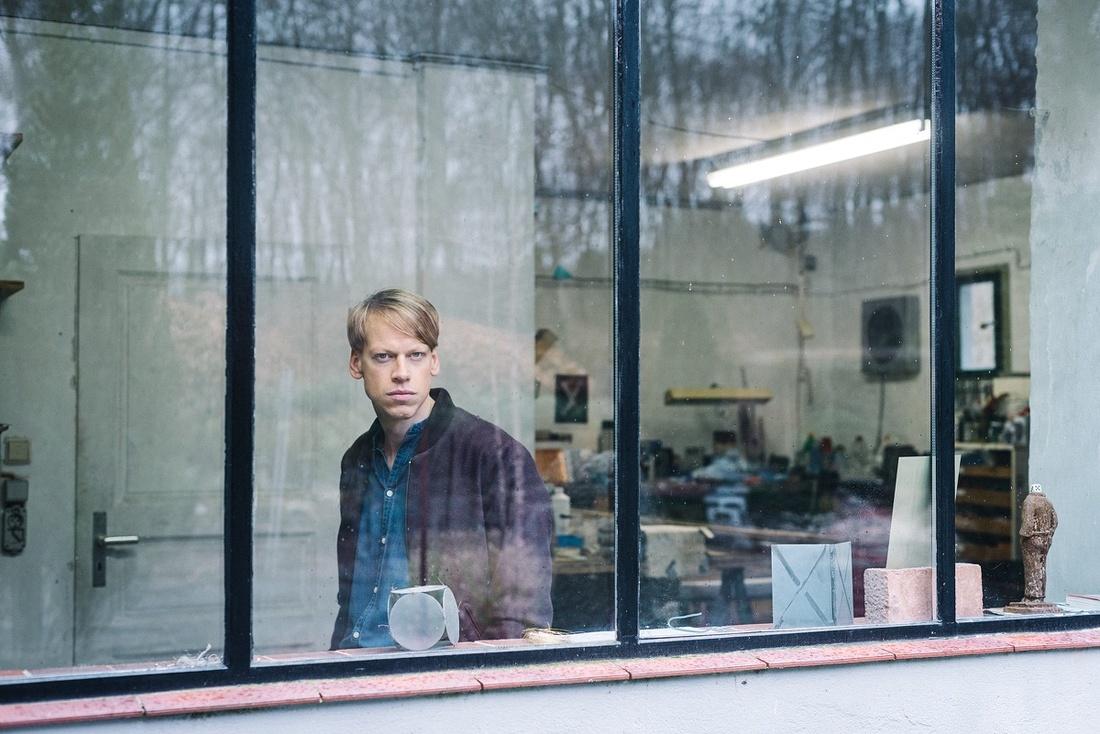 Portrait of Fiete Stolte in his Berlin studio by Wolfgang Stahr for Artsy.