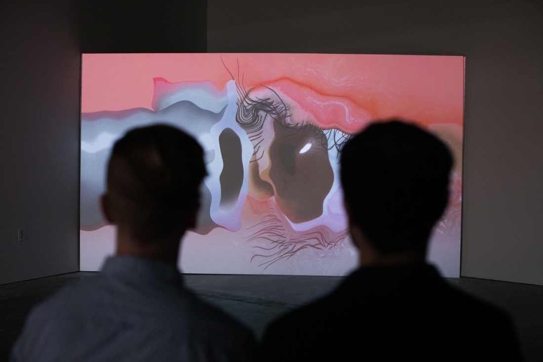 Installation view of Agnieszka Polska at Atlanta Contemporary. Courtesy of Atlanta Contemporary.