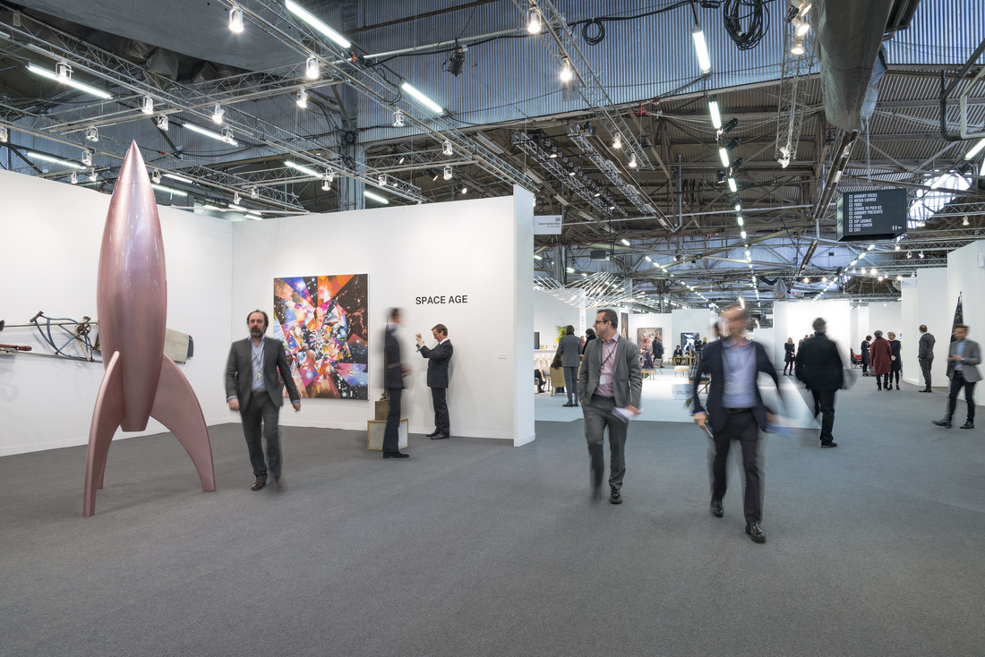 Installation view of Thaddaeus Ropac's booth at The Armory Show, 2016. Photo by Adam Reich for Artsy.