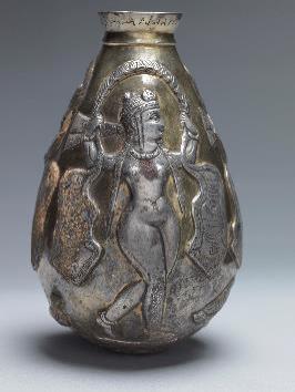 Gilded Sasanian silver jar, Silver, gilt, Central Asia, 5th-7th century AD, H. 17.5 cm, David Aaron, London