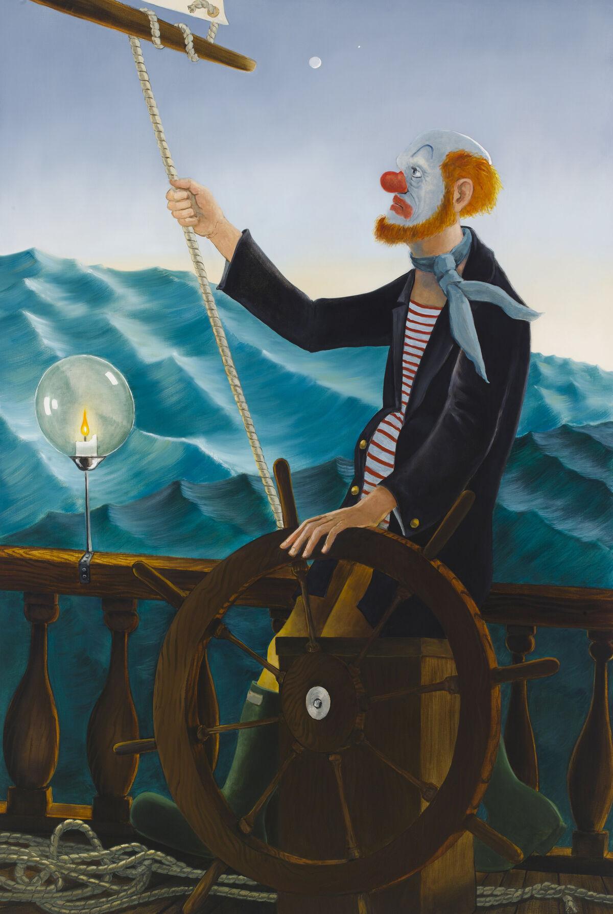 Sean Landers, Around the World Alone (Venerable Seafarer - Dusk), 2011. Courtesy of the artist and Petzel, New York.