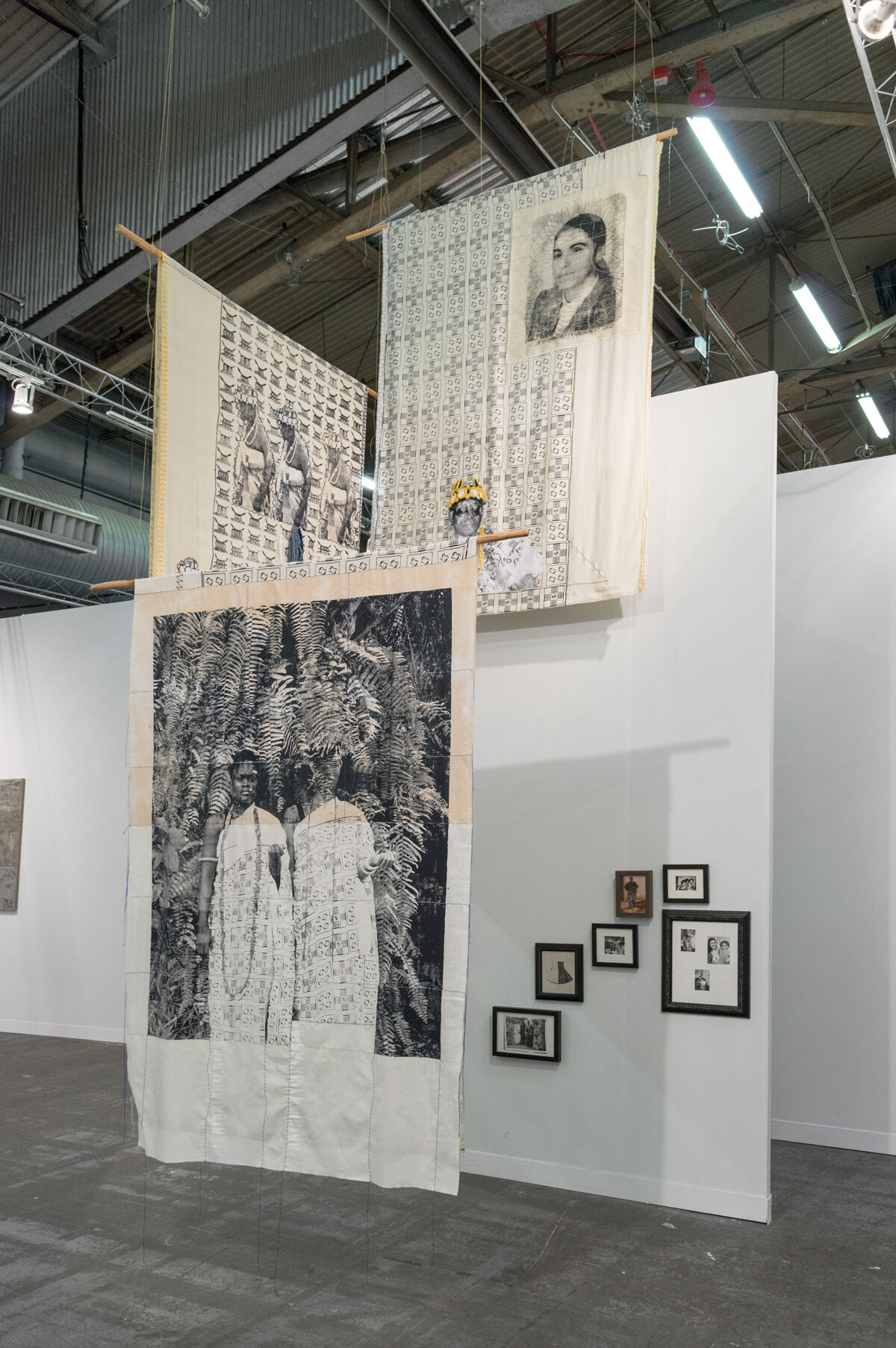 Installation view of work by Zohra Opoku at Mariane Ibrahim Gallery's booth at The Armory Show, 2017. Photo by Adam Reich for Artsy.