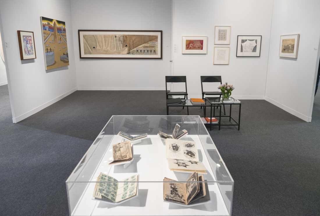 Installation view of Fleisher/Ollman's booth at The Armory Show, 2016. Photo by Adam Reich for Artsy.