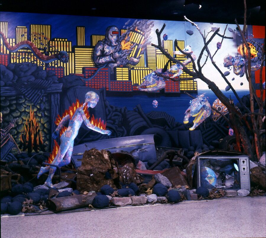 David Wojnarowicz, Untitled (Burning Boy Installation), 1984. Courtesy of the Estate of David Wojnarowicz and P.P.O.W