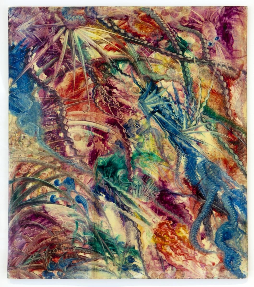 Eugene von Bruenchenhein, Untitled (abstraction), 1956. Courtesy of Andrew Edlin Gallery.