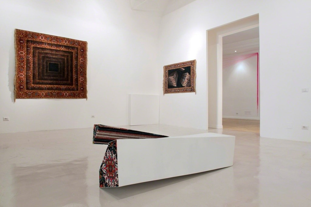 "Installation view of ""Faig Ahmed – Omnia Mutantur, Nihil Interit"" at Montoro12 Contemporary Art, Rome. Courtesy Montoro12 Contemporary Art and the artist."