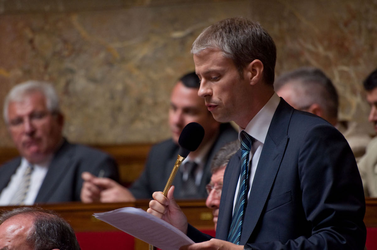 Franck Riester, the new French culture minister. Photo by Richard Ying/LePost.fr, via Flickr