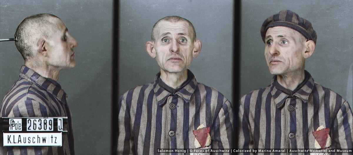 Salomon Honig. © Faces of Auschwitz/Marina Amaral/Auschwitz Memorial Museum.