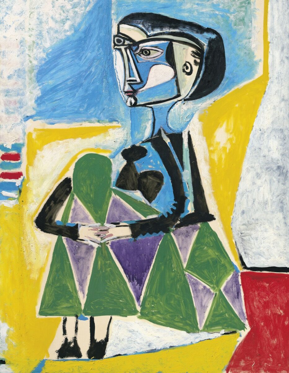 Pablo Picasso, Femme Accroupie (Jacqueline), 1954. © 2018 Estate of Pablo Picasso / Artists Rights Society (ARS), New York. Courtesy of Christie's Images Ltd. 2018.
