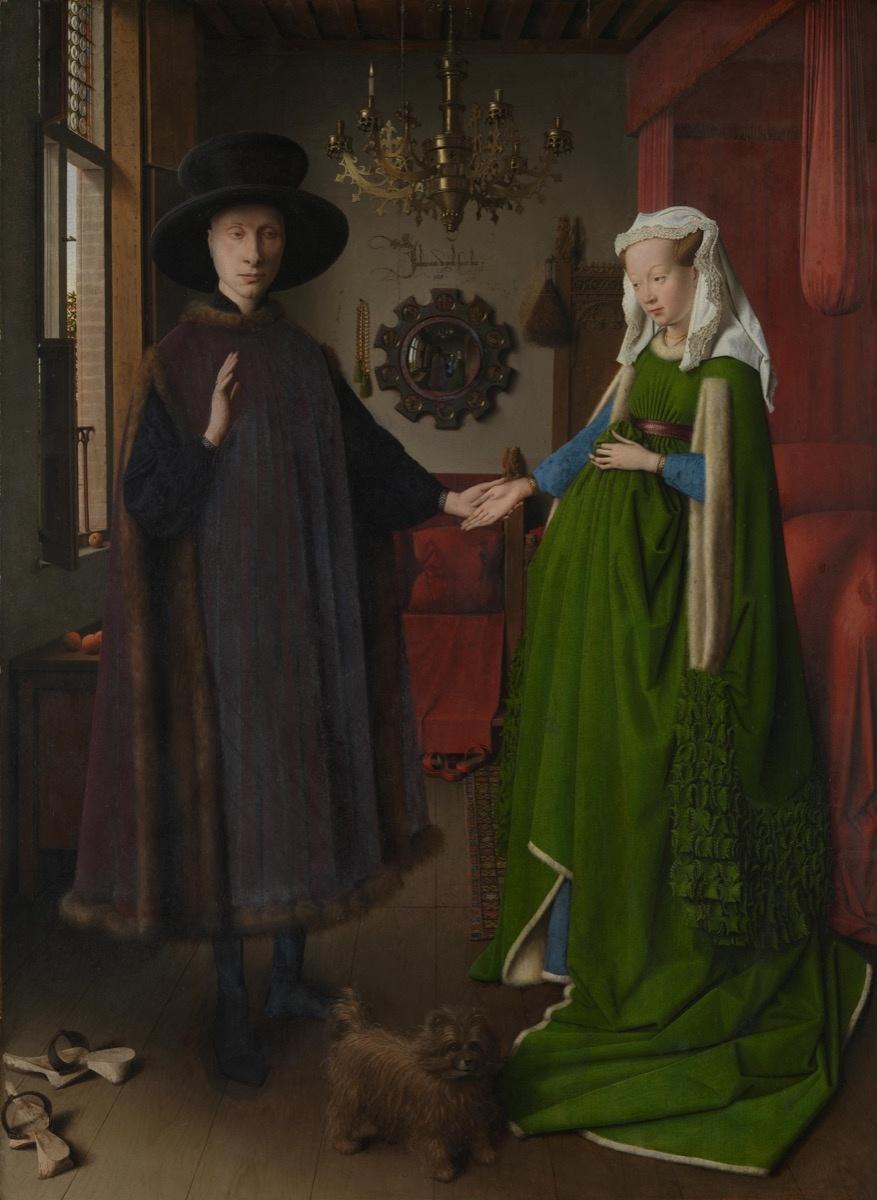 Jan van Eyck, Untitled (The Arnolfini Portrait), 1434. Image via Wikimedia Commons.