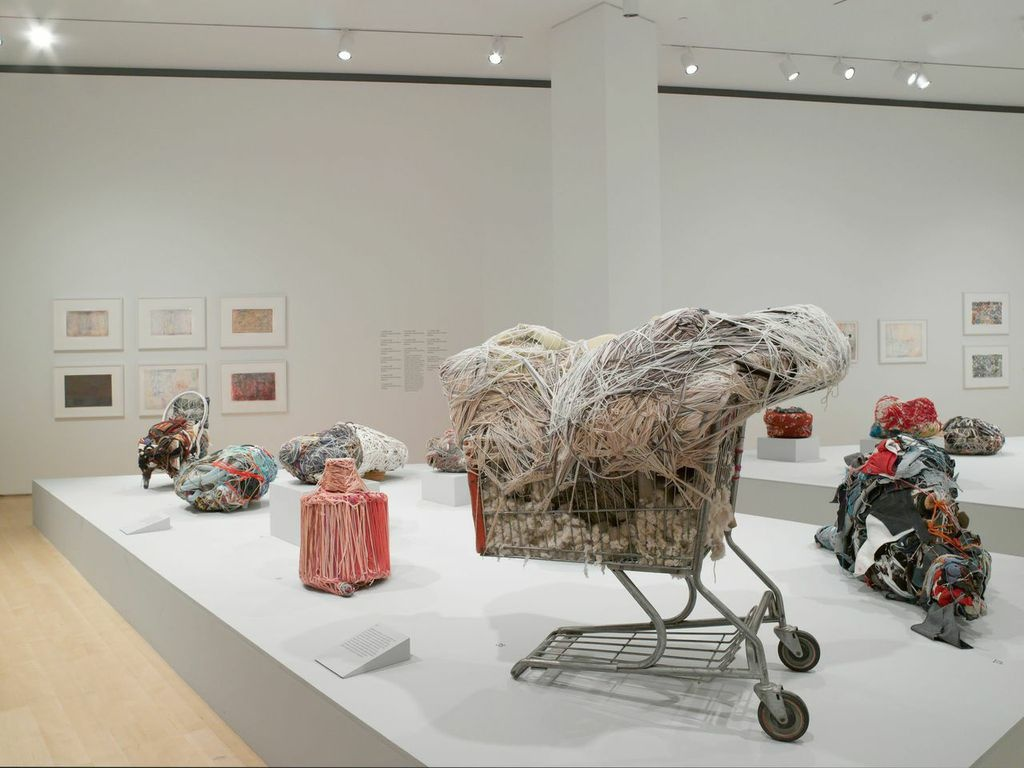 """Judith Scott, """"Bound and Unbound"""" (install shot), 2015. Courtesy of the Brooklyn Museum."""