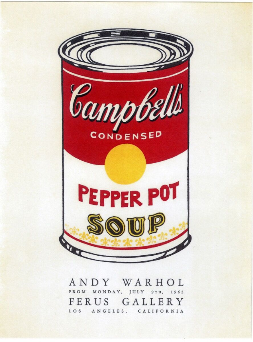 Andy Warhol, Pepper Pot Poster: Ferus Gallery, 1962.