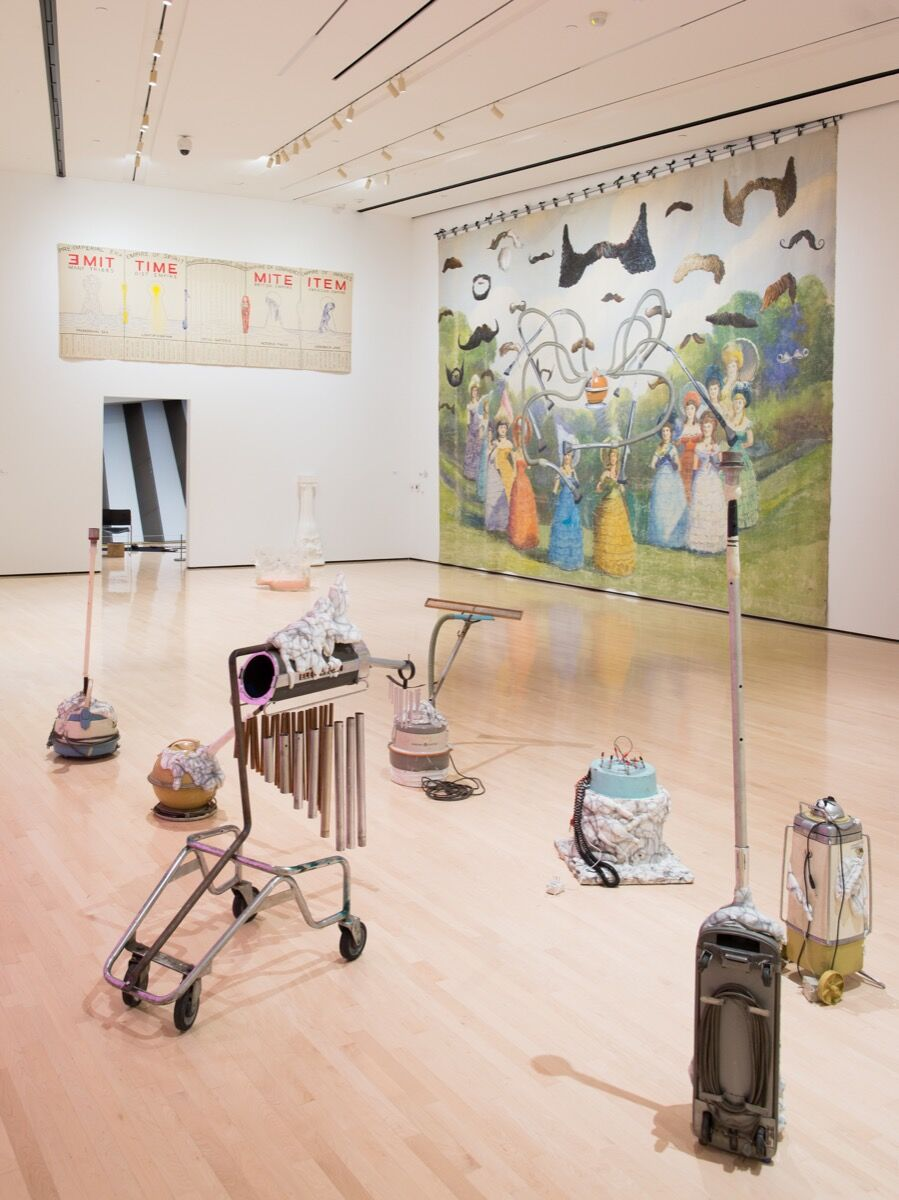 Installation view of Michigan Stories: Mike Kelley and Jim Shaw. Photo by Eat Pomegranate Photography. Courtesy of the Eli and Edythe Broad Art Museum.