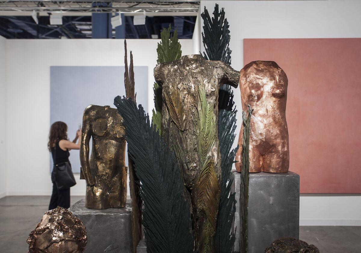Installation view of Lia Rumma's booth at Art Basel in Miami Beach, 2015.Photo byOriol Tarridas for Artsy.