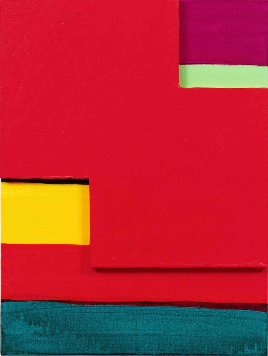 Mary Heilmann, Red Mirage, 2017. © Mary Heilmann. Photo by Thomas Müller. Courtesy of the artist, 303 Gallery, and Hauser & Wirth.