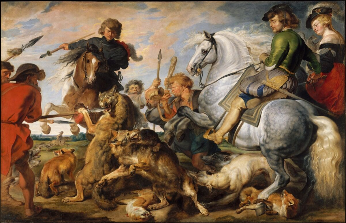 Peter Paul Rubens, Wolf and Fox Hunt, ca. 1616. Courtesy of The Metropolitan Museum of Art.