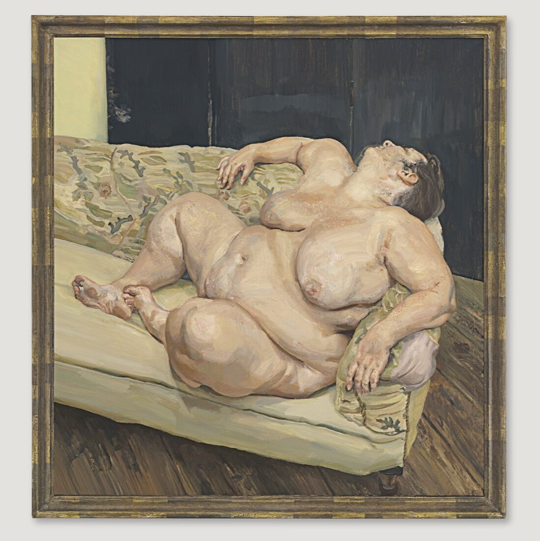 Lucian Freud, Benefits Supervisor Resting, 1994. Price Realized: $56,165,000. Courtesy of Christie's Images ltd. 2015.