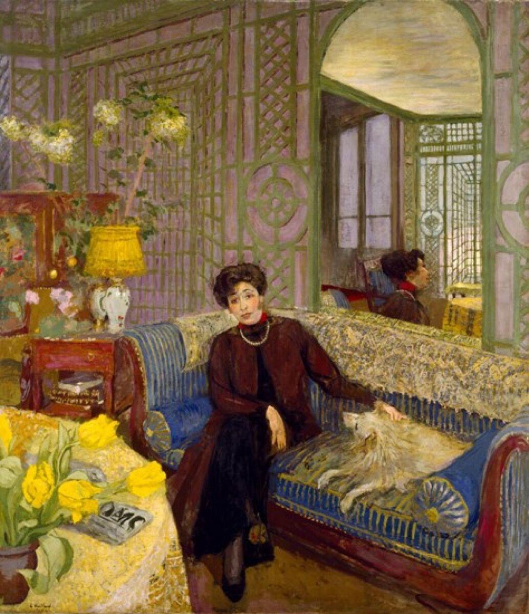 "Édouard Vuillard, Marcelle Aron (""Madame Tristan Bernard""), 1914. Courtesy of The Museum of Fine Arts, Houston."