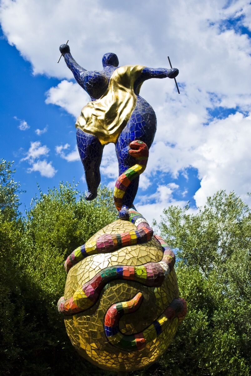Niki de Saint Phalle, The Tarot Garden, Tuscany, Italy. Photo by Alessandro Bonvini, via Flickr.