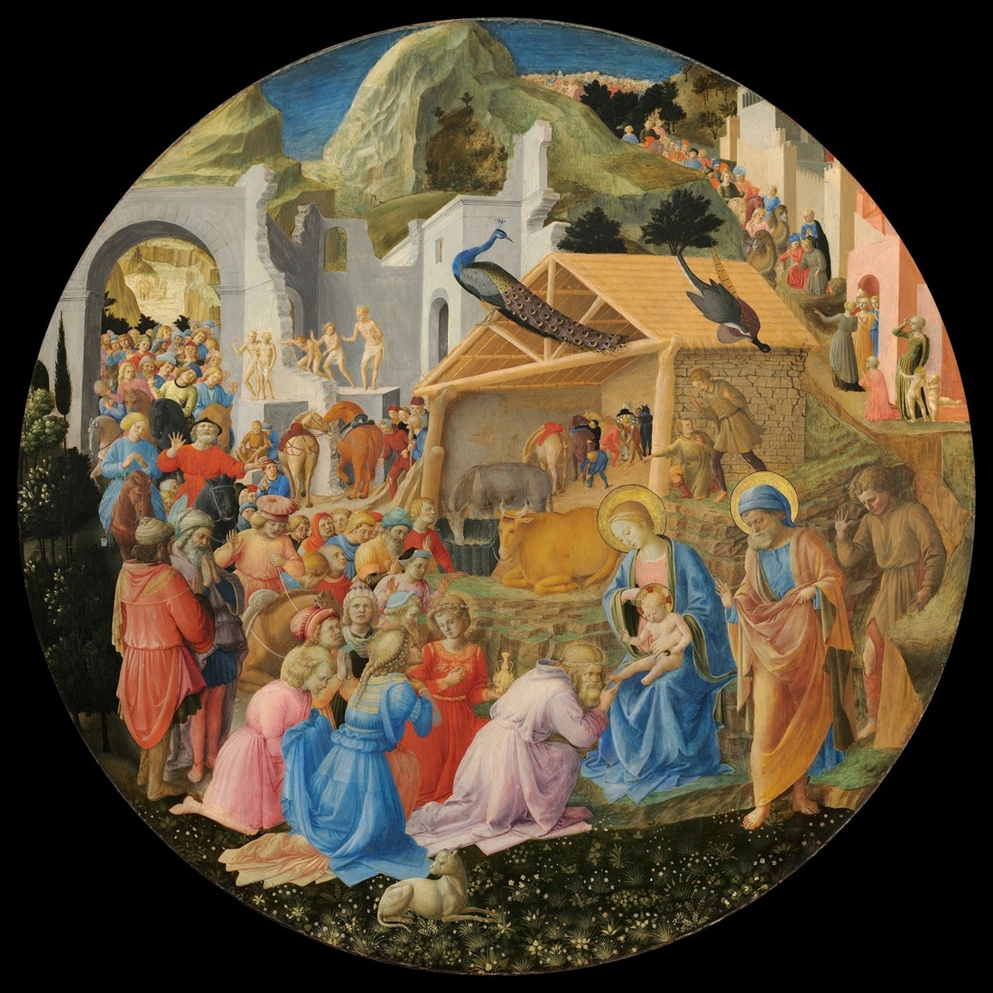 Fra Angelico and Fra Filippo Lippi, The Adoration of the Magi, c. 1440-60. Image via Wikimedia Commons.