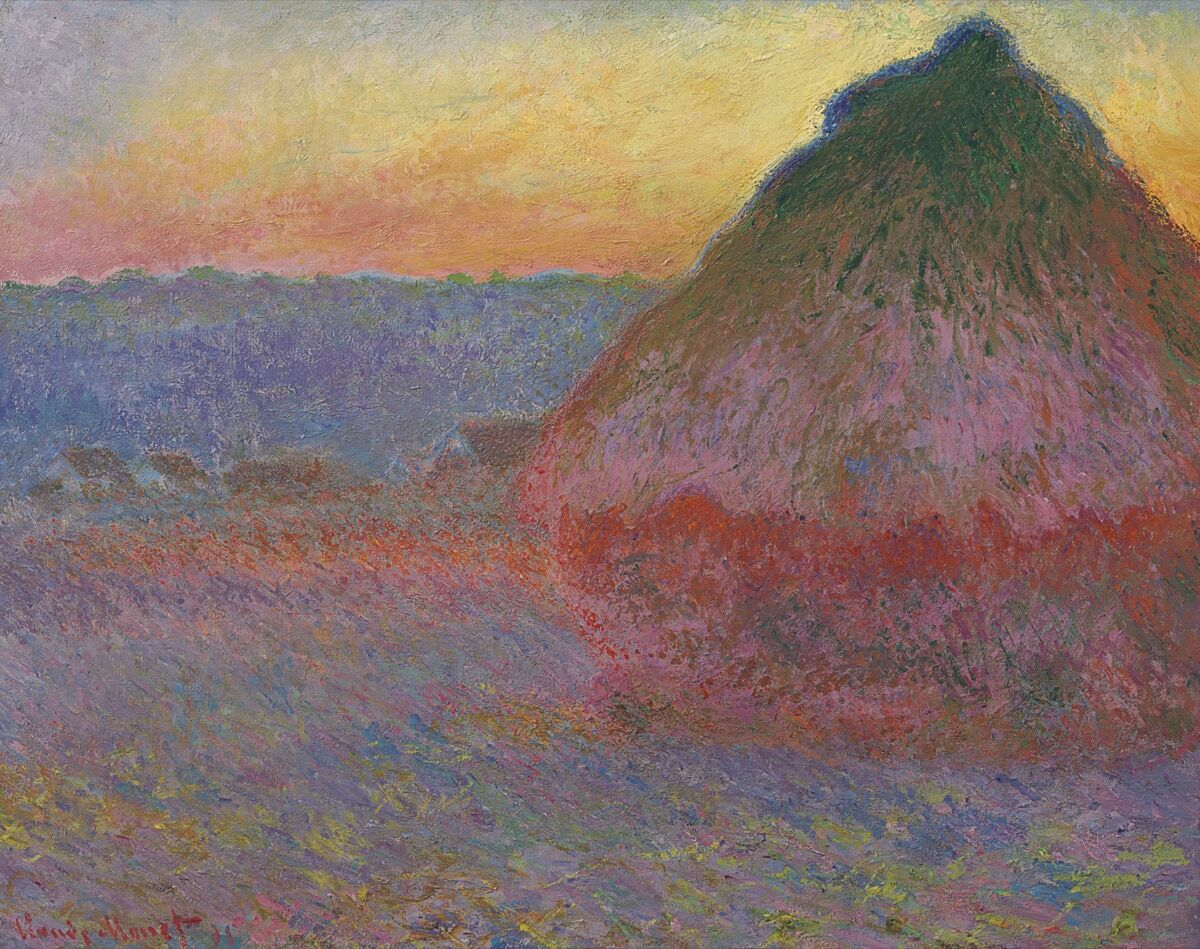 Claude Monet, Meule, 1891. Image: Christie's Images Ltd. 2016
