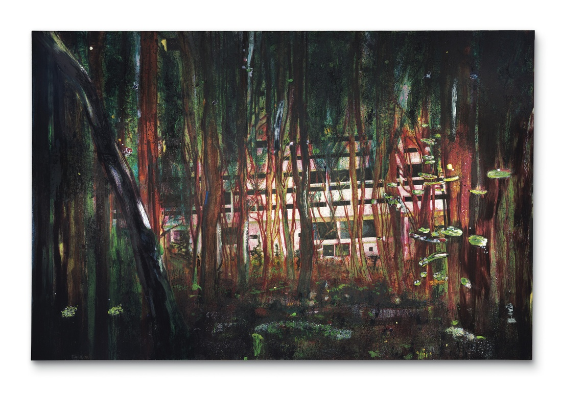 Peter Doig, Cabin Essence, 1993-1994. Image courtesy of Christie's.