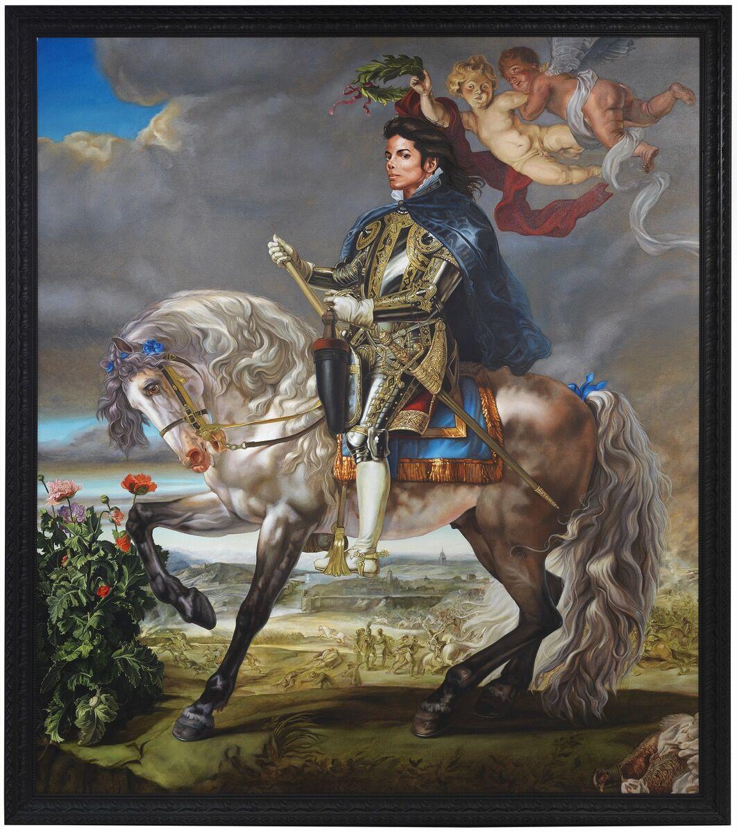 Kehinde Wiley, Equestrian Portrait of King Philip II (Michael Jackson), 2010. © Kehinde Wiley. Photo by Jeurg Iseler. Courtesy of Stephen Friedman Gallery, London and Sean Kelly Gallery, New York.