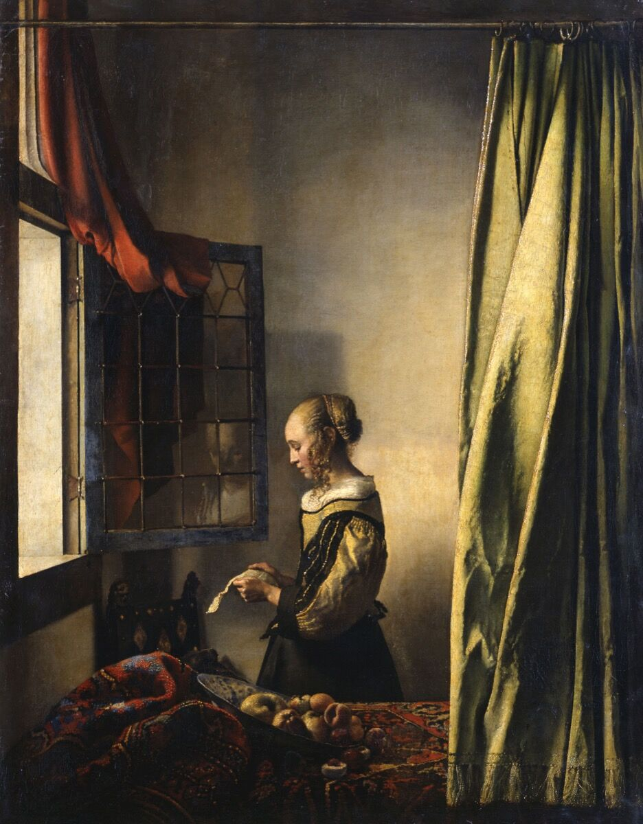 Johannes Vermeer, Girl Reading a Letter by an Open Window, ca. 1659. Courtesy of the Staatliche Kunstsammlungen Dresden.