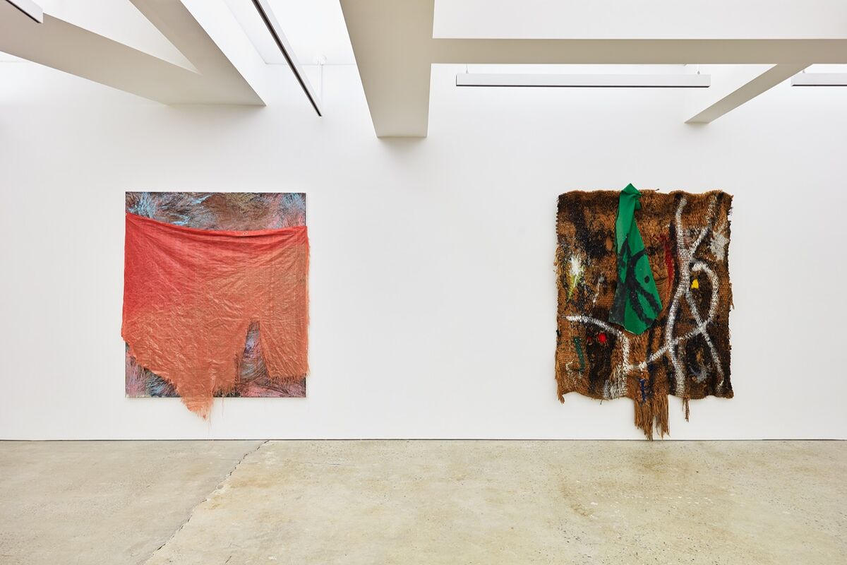 """Installation view of """"UN(COVERED): MIRÓ I HAMMONS"""" at Nahmad Contempoary, 2018. Courtesy of the gallery."""