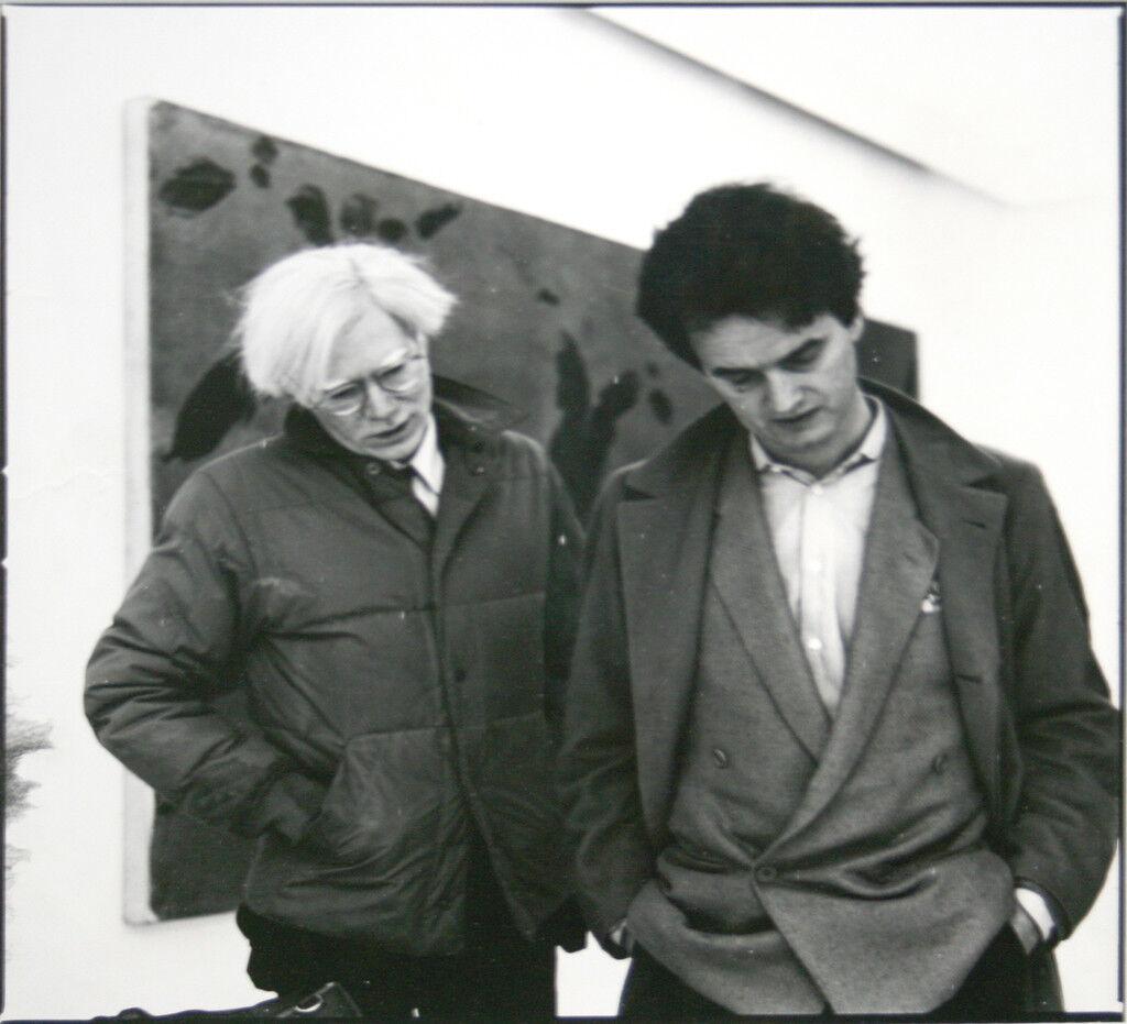 Andy Warhol & Hans Mayer (Galerie Hans Mayer), 1982, courtesy of Galerie Hans Mayer