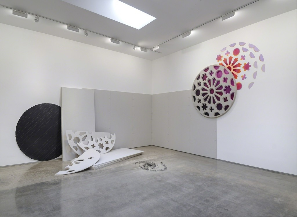 """Installation """"More Light Than Heat,"""" on view at Edward Cella Art + Architecture, Los Angeles, 2015. Courtesy Edward Cella Art + Architecture."""