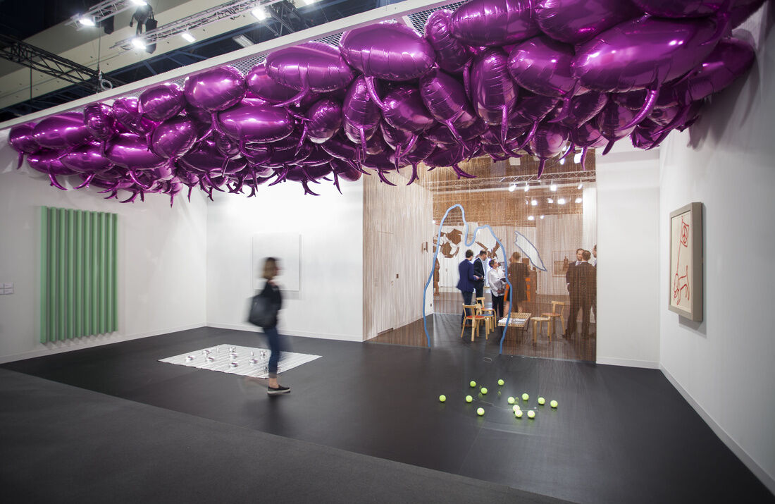 Installation view of Esther Schipper's booth at Art Basel in Miami Beach, 2015. Photo by Oriol Tarridas for Artsy.