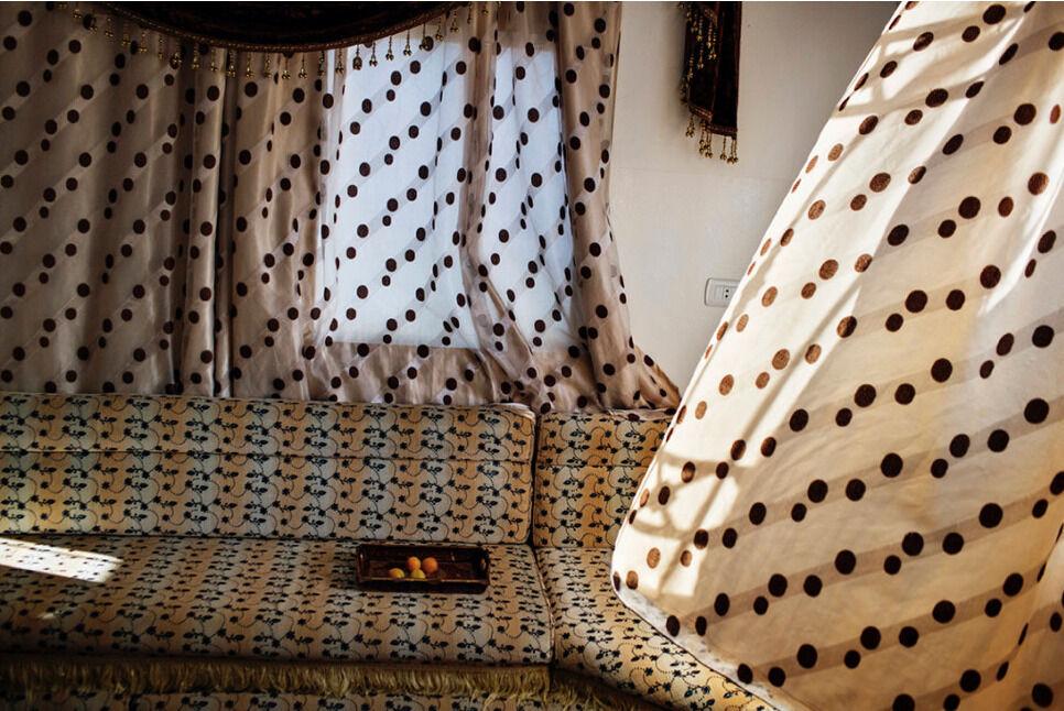 Tanya Habjouqa, Curtains. Courtesy of ILEX Gallery