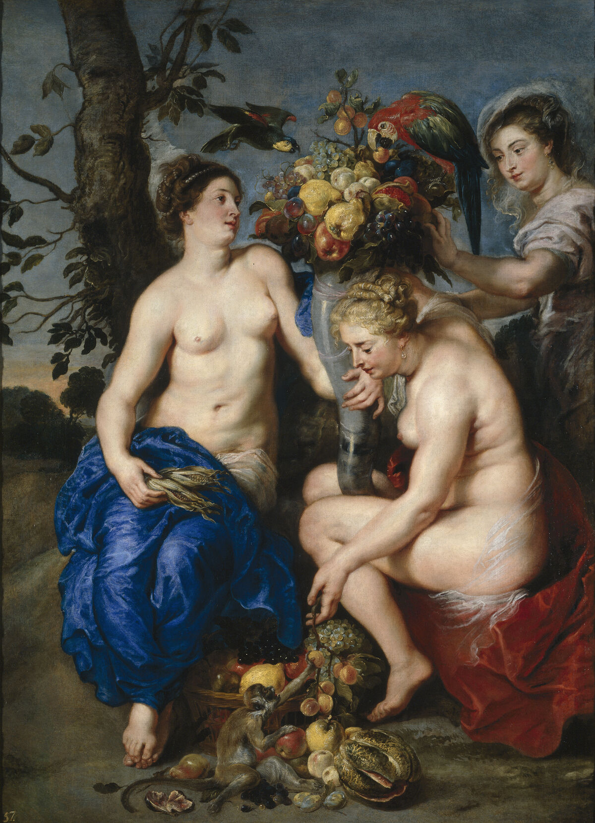 Peter Paul Rubens, Ceres with two Nymphs,1615 - 1617l. Image via Wikimedia Commons.