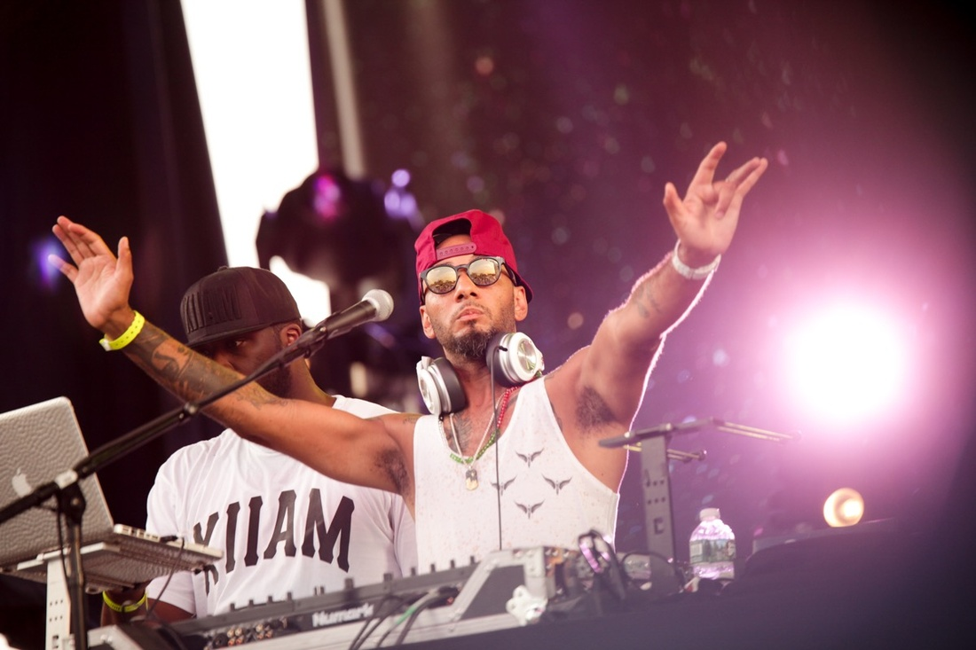 "Swizz Beatz performing at ""No Commision."" Photo © BFA, Angela Pham."