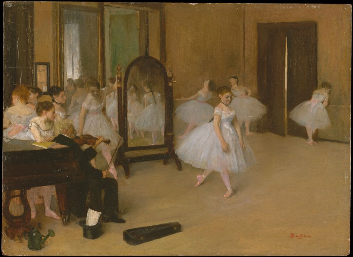 Edgar Degas, The Dancing Class, ca. 1870. Courtesy of the Metropolitan Museum of Art.