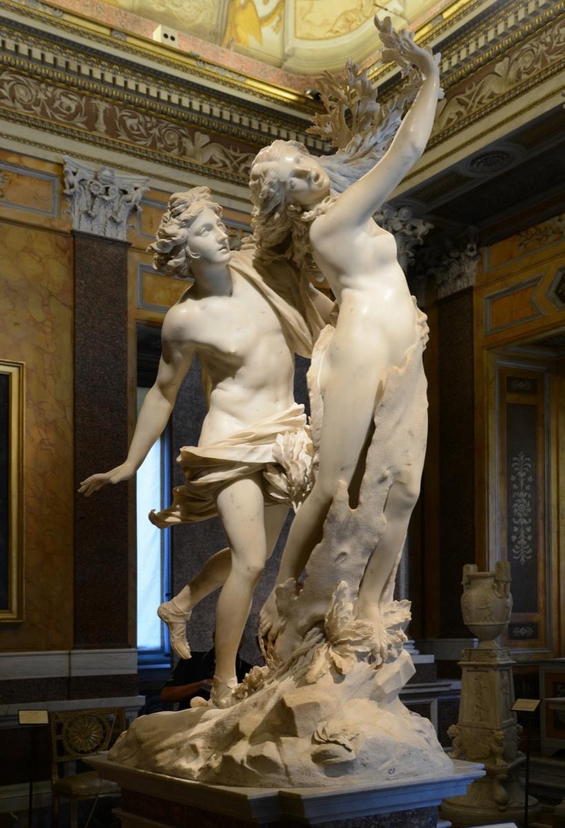 Gian Lorenzo Bernini, Apollo and Daphne, 1622-25. Image via Wikimedia Commons.